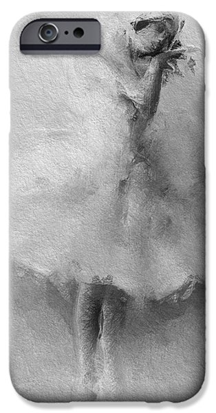 Ballet Dancers Mixed Media iPhone Cases - The Swan iPhone Case by Stefan Kuhn