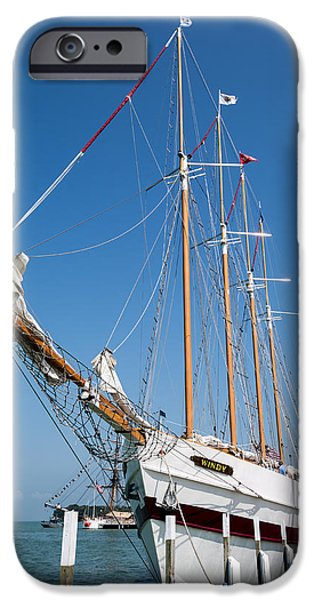Pirate Ship iPhone Cases - The Tall Ship Windy iPhone Case by Dale Kincaid