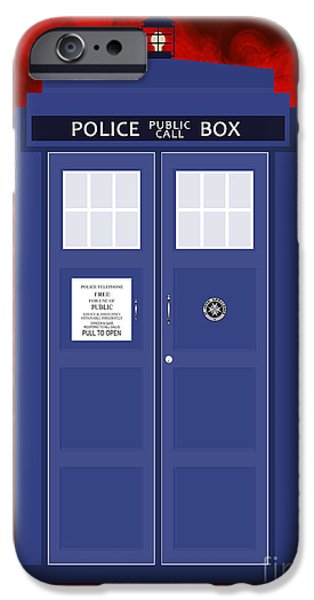 Detectives iPhone Cases - The Tardis iPhone Case by Nishanth Gopinathan