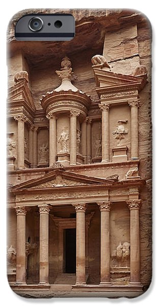 the treasury Nabataean ancient town Petra iPhone Case by Juergen Ritterbach
