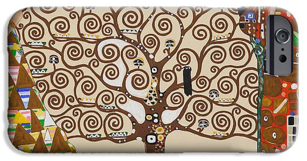 Recently Sold -  - Flower Of Life iPhone Cases - The Tree of Life iPhone Case by Gustav Klimt