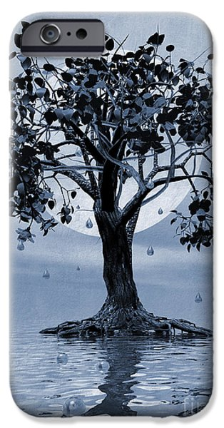Torn Digital Art iPhone Cases - The Tree that Wept a Lake of Tears iPhone Case by John Edwards