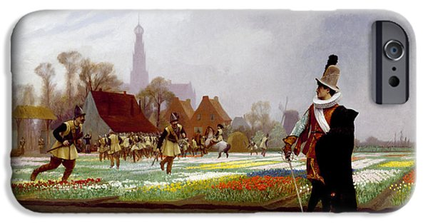 Gerome iPhone Cases - The Tulip Folly iPhone Case by Jean-Leon Gerome