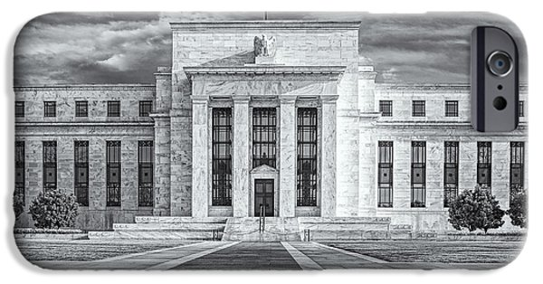 D.c. iPhone Cases - The US Federal Reserve Board Building iPhone Case by Susan Candelario