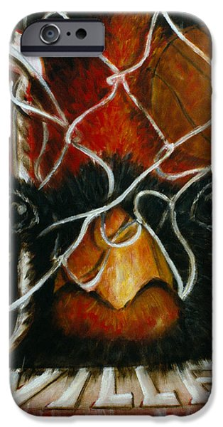 Basket Ball Paintings iPhone Cases - The Ville iPhone Case by Josh Hertzenberg