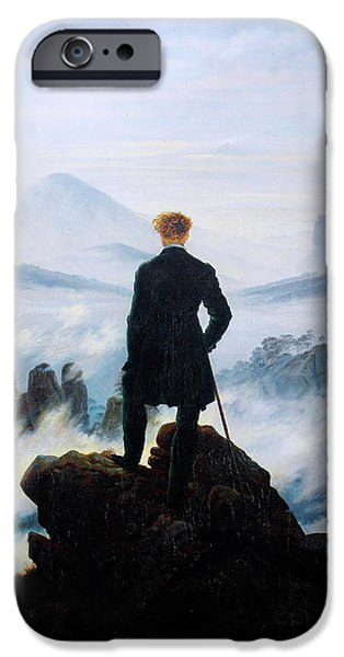 Recently Sold -  - Sea Birds iPhone Cases - The Wanderer Above the Sea of Fog iPhone Case by Caspar David Friedrich