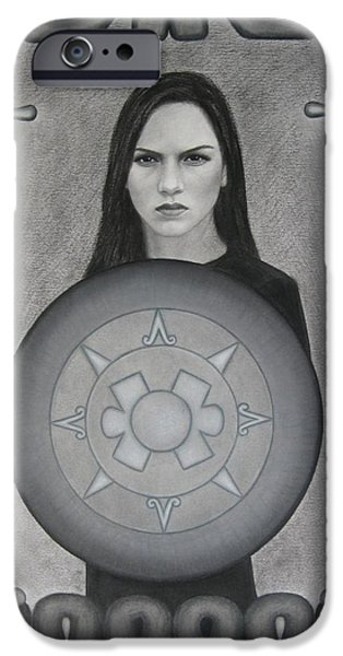 Serpent Pastels iPhone Cases - The Warrior iPhone Case by Lynet McDonald
