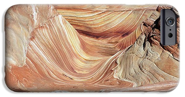 Red Rock iPhone Cases - The Wave, Navajo Sandstone Formation iPhone Case by Panoramic Images