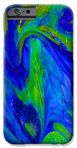 Blue Abstracts Ceramics iPhone Cases - The Way iPhone Case by Gabriele Mueller
