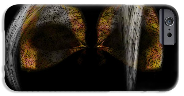Infiltration Abstract Art iPhone Cases - The Way of the Ninja. iPhone Case by Christopher Gaston
