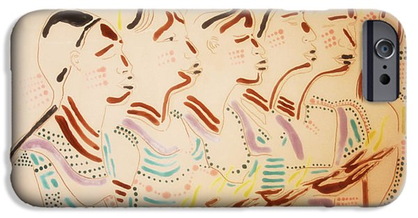 Contemporary Art Ceramics iPhone Cases - The Wise Virgins iPhone Case by Gloria Ssali