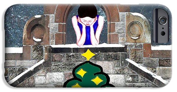 Miracle Mixed Media iPhone Cases - Thinking About Christmas Past iPhone Case by Patrick J Murphy