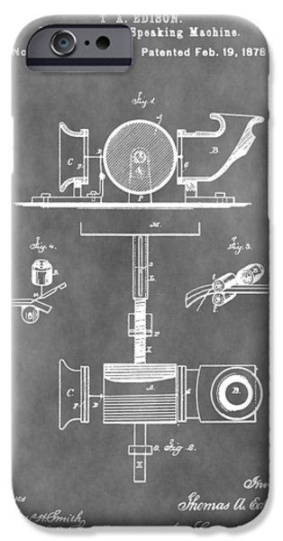 Thomas Alva Edison iPhone Cases - Thomas Edison Patent iPhone Case by Dan Sproul