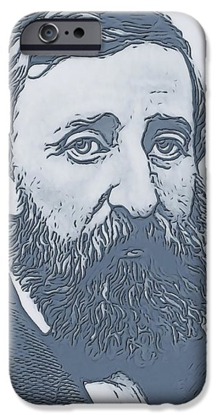 Walden Pond iPhone Cases - Thoreau iPhone Case by Dan Sproul