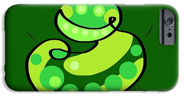 Amphibians Digital Art iPhone Cases - Thoughts and colors series frog iPhone Case by Veronica Minozzi