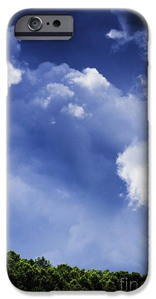 Thunderhead iPhone Cases - Threatening Sky iPhone Case by Thomas R Fletcher