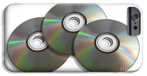 Disc iPhone Cases - Three Discs iPhone Case by Ryan Jorgensen