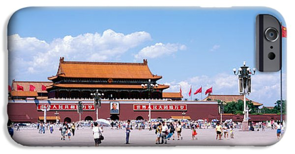 Beijing iPhone Cases - Tiananmen Square Beijing China iPhone Case by Panoramic Images