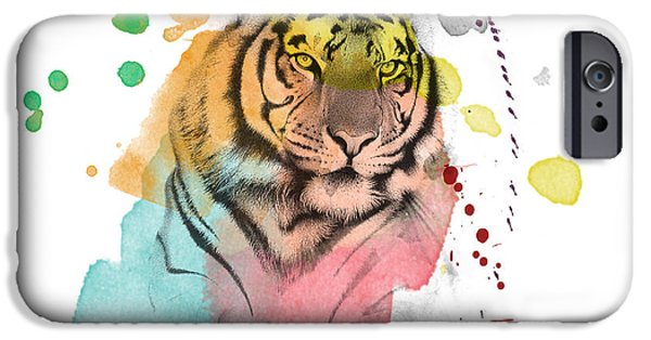 The Tiger iPhone Cases - Tiger 12 iPhone Case by Mark Ashkenazi