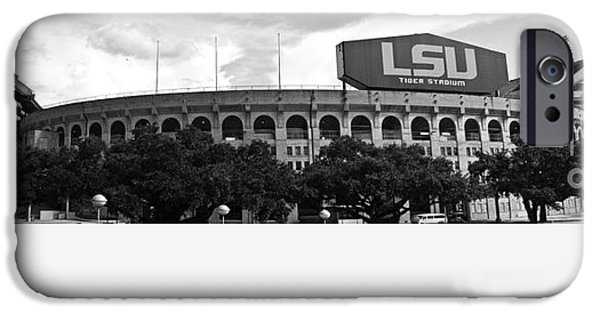 South Louisiana iPhone Cases - Tiger Stadium Panorama iPhone Case by Scott Pellegrin