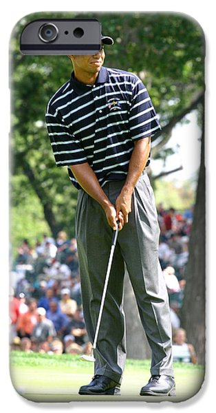 Tiger Woods iPhone Cases - Tiger Woods iPhone Case by James Marvin Phelps