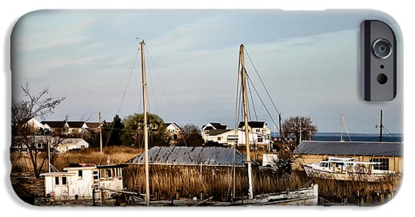 Crabbing iPhone Cases - Tilghman Island Maryland iPhone Case by Bill Cannon