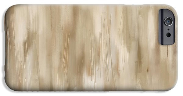 Beige Abstract iPhone Cases - Timeless iPhone Case by Lourry Legarde