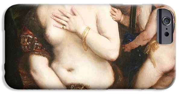 Cora Wandel iPhone Cases - Titians Venus With A Mirror iPhone Case by Cora Wandel