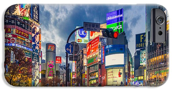 Tokyo iPhone Cases - Tokyo Japan Shibuya Crossing iPhone Case by Cory Dewald
