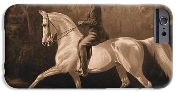 American Saddlebred iPhone Cases - Tom Bass and Columbus iPhone Case by Jeanne Newton Schoborg