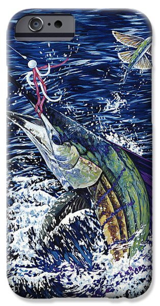 Sailfish Paintings iPhone Cases - Top Sail iPhone Case by Danielle  Perry