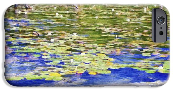 Lilly Pads iPhone Cases - Torch River Water Lilies iPhone Case by Michelle Calkins