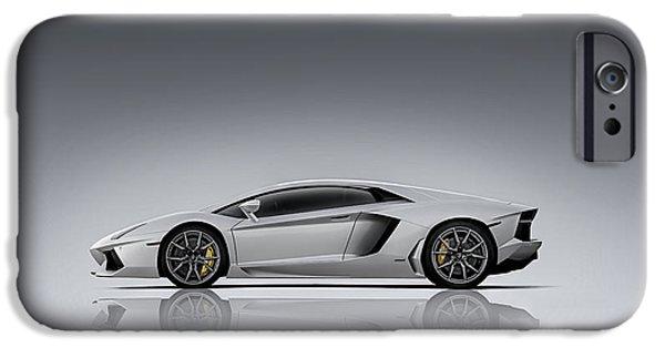 White Digital Art iPhone Cases - Toro iPhone Case by Douglas Pittman