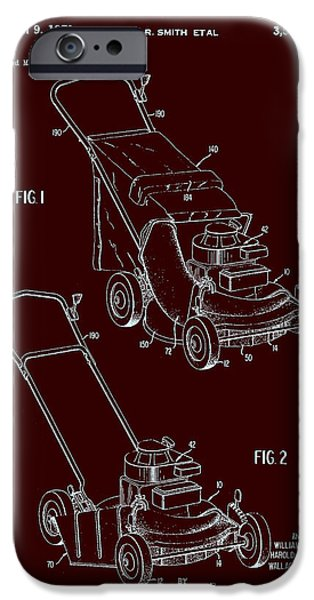 Mower iPhone Cases - Toro Lawn Mower Patent 1971 iPhone Case by Mountain Dreams