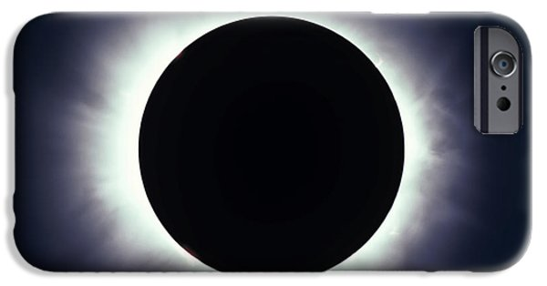 Strange iPhone Cases - Total Solar Eclipse Taken iPhone Case by Alan Dyer