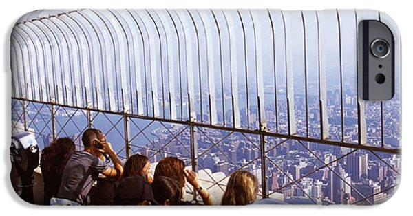 Operating iPhone Cases - Tourists At An Observation Point iPhone Case by Panoramic Images