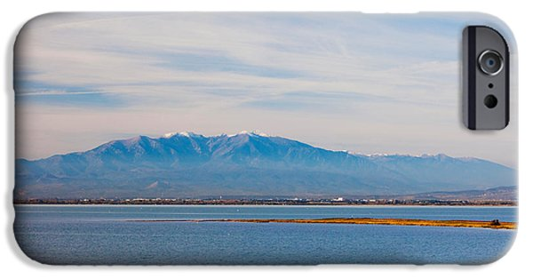 Languedoc iPhone Cases - Town Overview From Cap Leucate iPhone Case by Panoramic Images