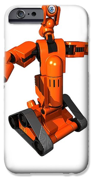Technology iPhone Cases - Toy Robot, Artwork iPhone Case by Victor Habbick Visions