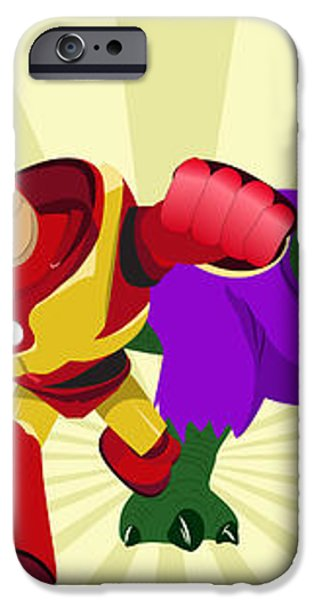 Toy Story Avengers iPhone Case by Lisa Leeman