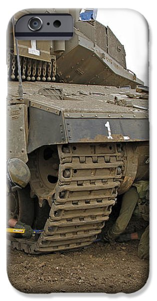 Track Replacement On A Israel Defense iPhone Case by Ofer Zidon
