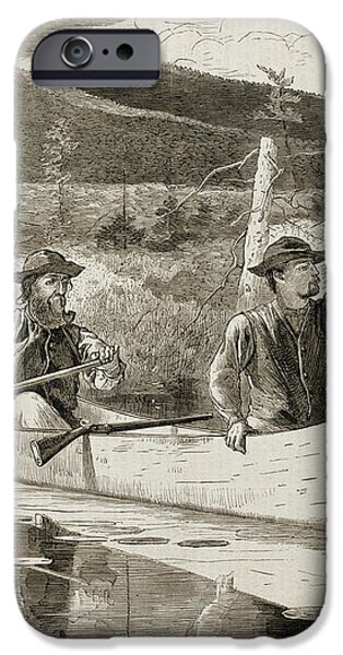 Trapping in the Adirondacks iPhone Case by Winslow Homer