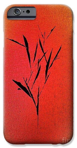 Recently Sold -  - Abstract Digital Drawings iPhone Cases - Tree iPhone Case by John Krakora