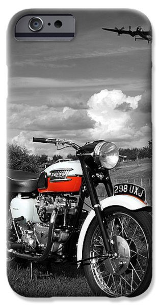 Cycles iPhone Cases - Triumph Bonneville T120 iPhone Case by Mark Rogan