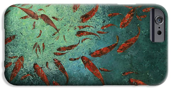 Fish Pond iPhone Cases - Troppi Per Contarli iPhone Case by Guido Borelli
