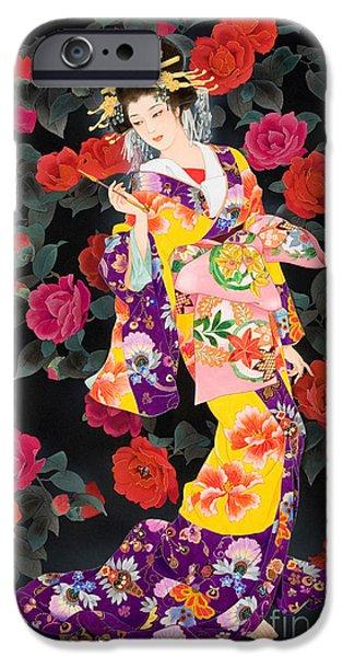 Adult iPhone Cases - Tsubaki iPhone Case by Haruyo Morita