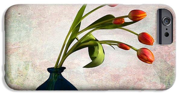 Orsillo Digital iPhone Cases - Tulips 6 iPhone Case by Mark Ashkenazi