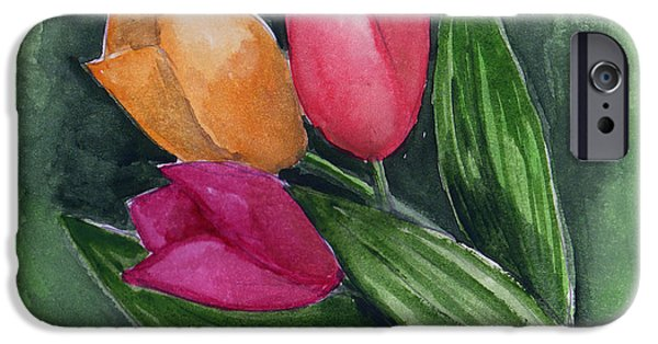 Llmartin iPhone Cases - Tulips iPhone Case by Linda L Martin