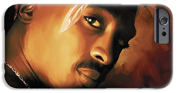 Small iPhone Cases - Tupac Shakur iPhone Case by Sheraz A