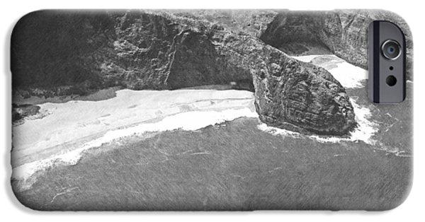 Frank Ocean Drawings iPhone Cases - Turtle Head Sea Cave Napali Coast iPhone Case by Frank Wilson
