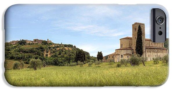 Dells iPhone Cases - Tuscany - Abbazia di SantAntimo iPhone Case by Joana Kruse
